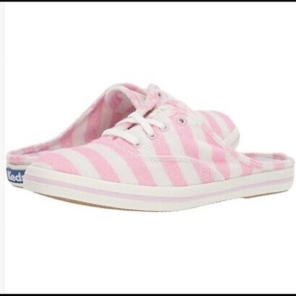 KEDS x Kate Spade Moxie Pink Stripe Mule Sneakers